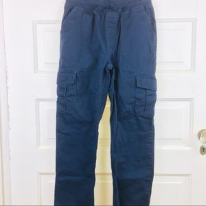 Boys Navy casual pull-on Cargo pants